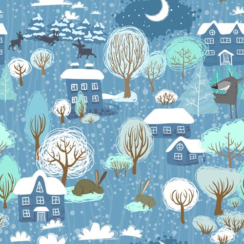 seamless pattern vector pattern cute christmas