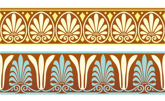 Greek ornament pattern borders vector 01 - WeLoveSoLo