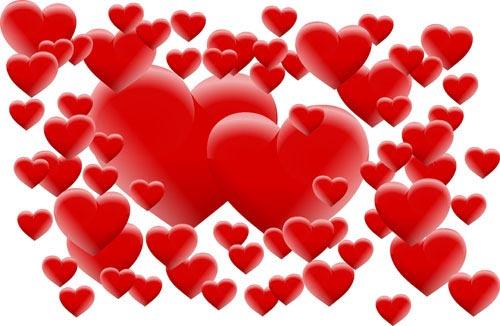 vector background valentine romantic roman hearts background