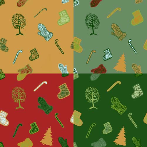 pattern ornaments christmas 2016