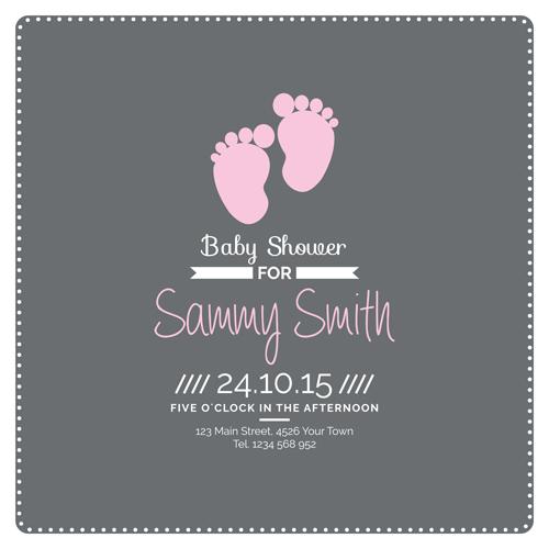 Retro baby shower cards 06 vector WeLoveSoLo