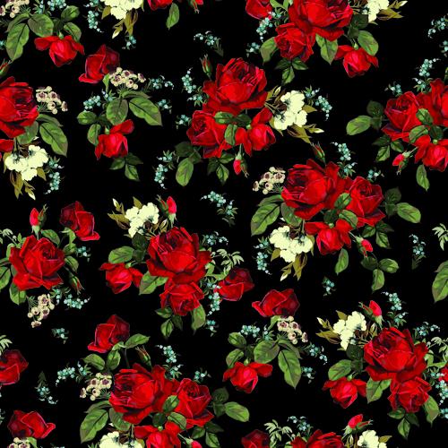Vintage Seamless Roses Pattern