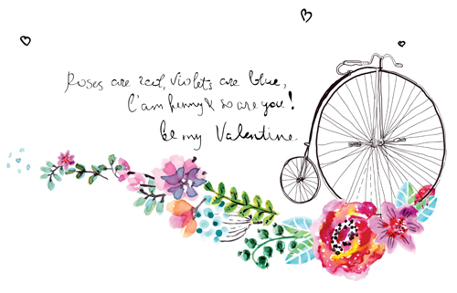 Watercolor flower wedding invitation vector graphics 02 welovesolo watercolor invitation flower stopboris Gallery