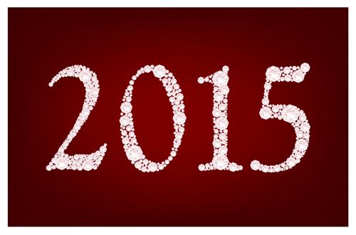 Vectors new year 2015