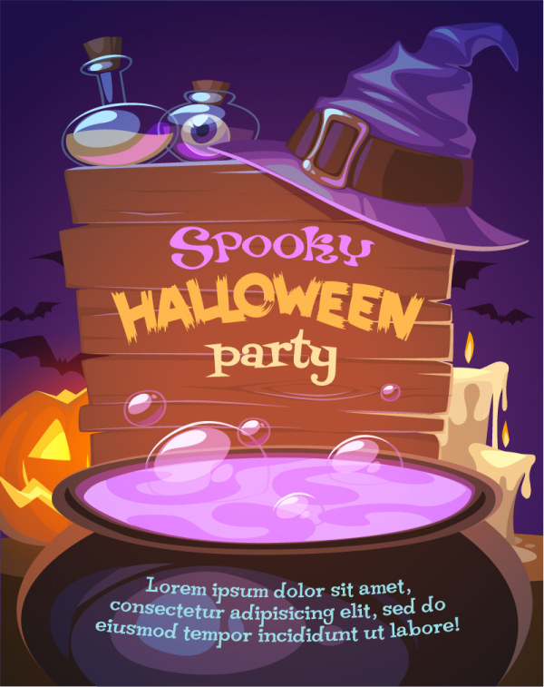 spooky poster party halloween