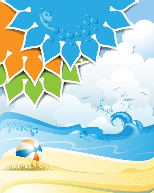 summer wallpaper swimming vector -#main