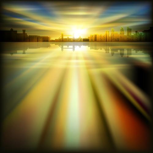 landscape background vector background