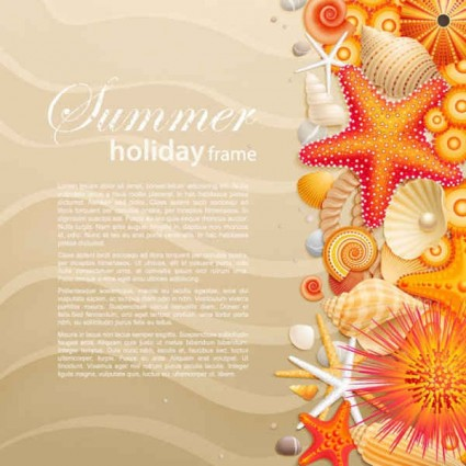 summer starfish seashells Backgrounds
