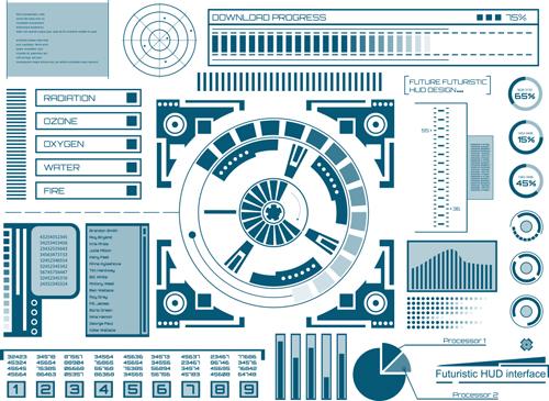 template interface hud futuristic
