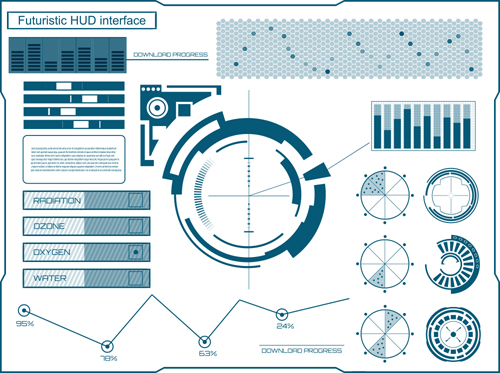 template interface hud futuristic