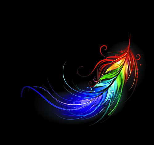 feather colorful bright