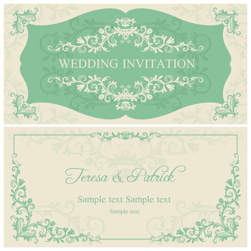 Elegant floral decorative wedding invitation vector cards 03 elegant floral decorative wedding invitation vector cards 03 stopboris Images