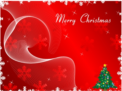 merry greeting christmas card