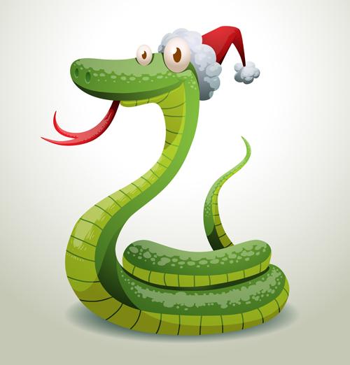 New Year snake 2013 design vector set 02 - WeLoveSoLo