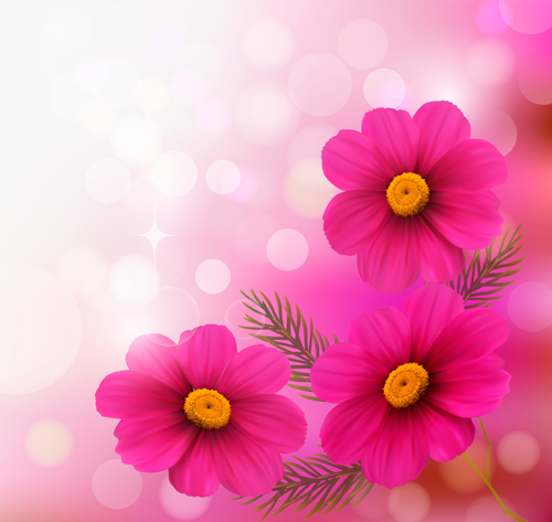 Pink flower with halation background art welovesolo pink halation flower background mightylinksfo
