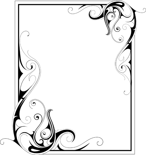 simple ornament frame vector material 02 - WeLoveSoLo