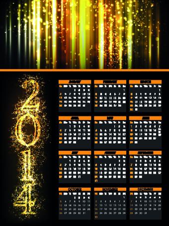 Fireworks calendar 2014