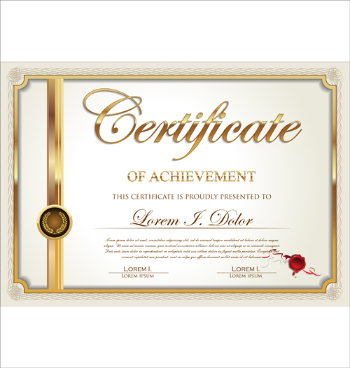 Exquisite Certificate Frames With Template Vector 01 Welovesolo
