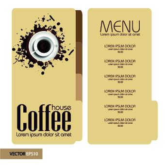 Retro style Retro font menu coffee