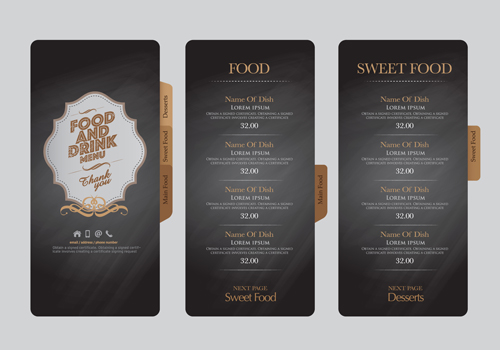 Food and drink menu design creative vector 02 - WeLoveSoLo