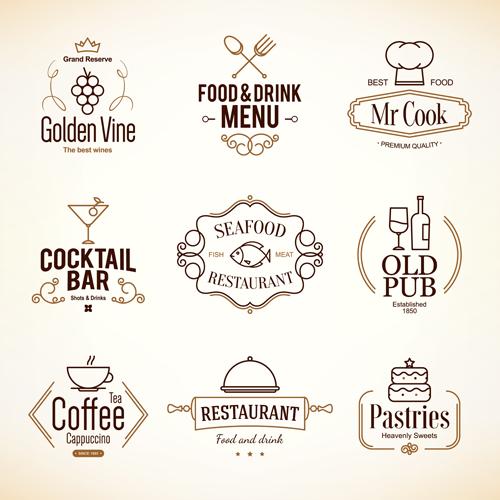 Restaurant food menu logos vector design welovesolo
