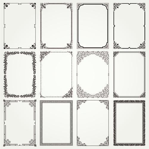 Vintage frames ornaments vector set 02 - WeLoveSoLo