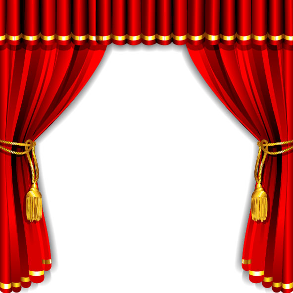 red elements element curtain
