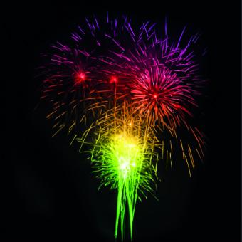 Fireworks background vector background