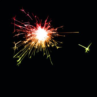 Fireworks effect background vector background