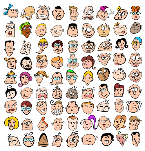 vector material funny expression