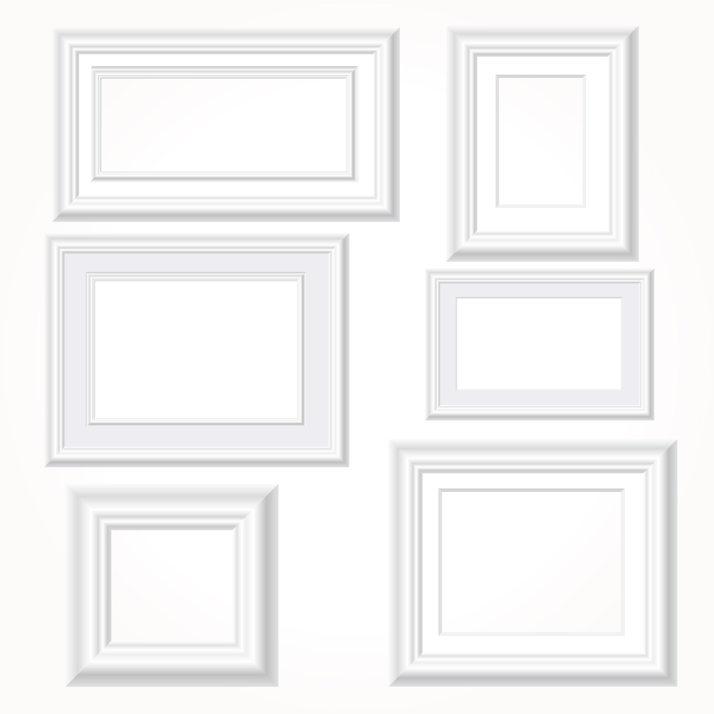 set of white picture frames choice image craft decoration ideas set of white picture frames gallery - White Frames