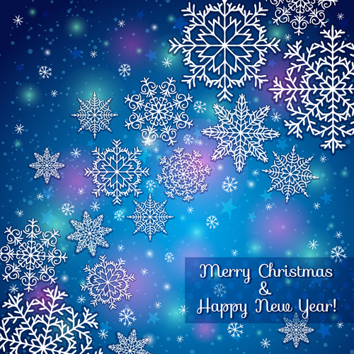2014 Merry Christmas snowflake background graphics 01 - WeLoveSoLo