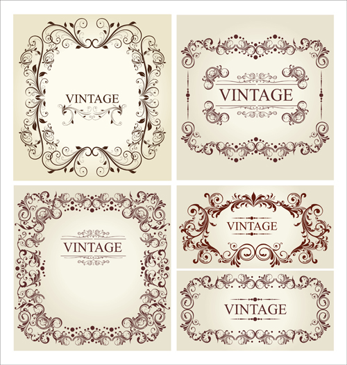 Ornament frames vintage style vector 01 - WeLoveSoLo