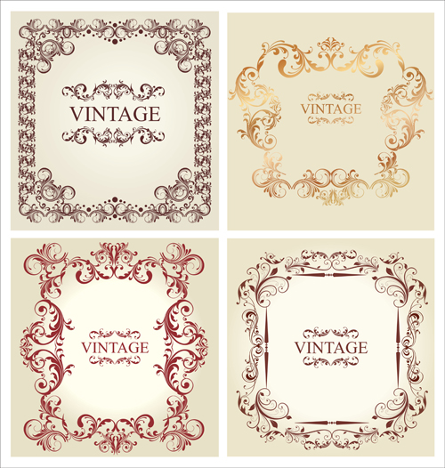 Ornament frames vintage style vector 02 - WeLoveSoLo