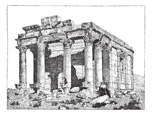 sketch classical building