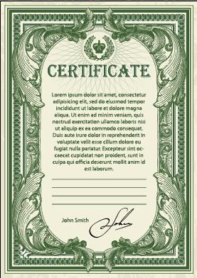 template green dark certificate template certificate