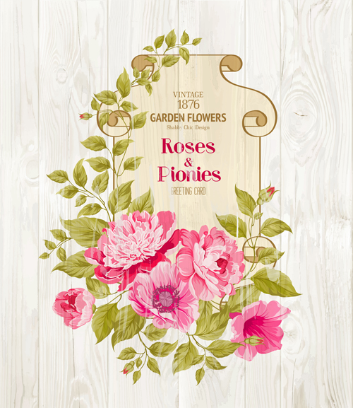pink flower cards background