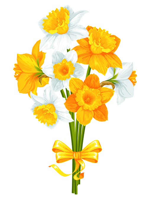 Yellow And White Flowers 01 Vector Welovesolo