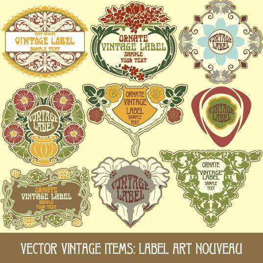 vintage label items