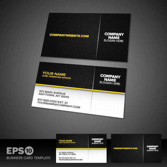 Vector Business Cards Templates Collection Download Image