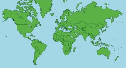 Flat map of the world vector   WeLoveSoLo
