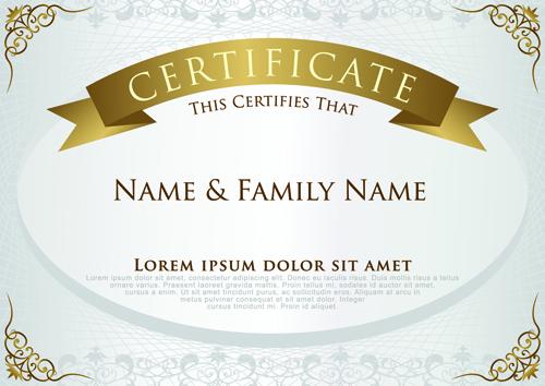 elegant certificate template vector design 01 welovesolo