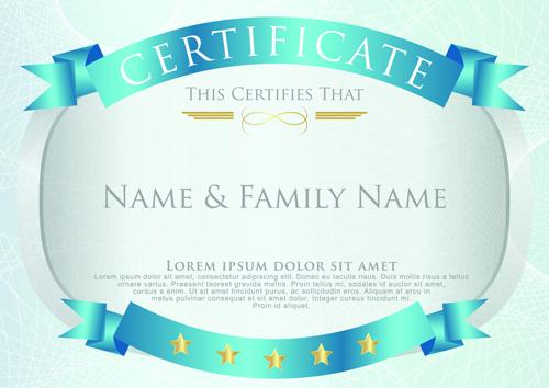 Elegant Certificate Template Vector Design 04 Welovesolo