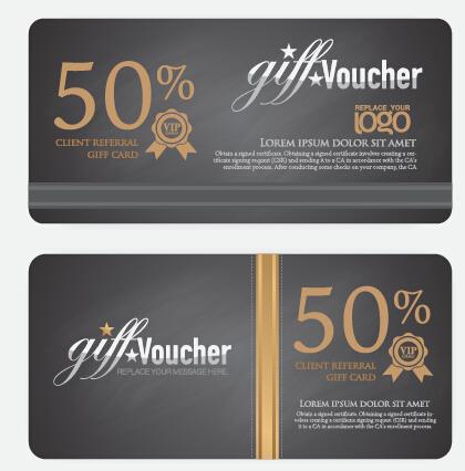 Excellent voucher template vector design 04 - WeLoveSoLo