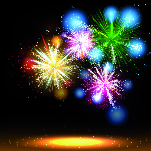 Works multicolor holiday Fireworks