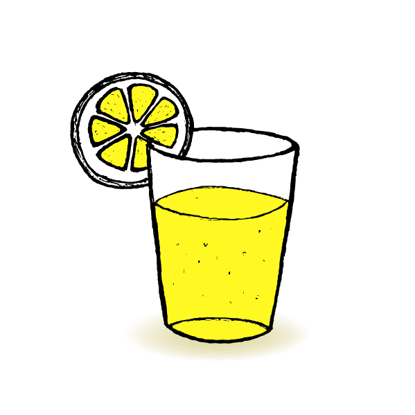 hand drawn lemonade with glass cup vector welovesolo