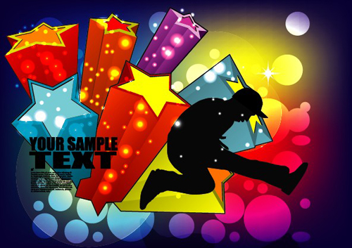Sports And Revelry Bright Background Vector Set 04