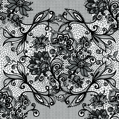 Vector black lace creative background graphics 03 - WeLoveSoLo
