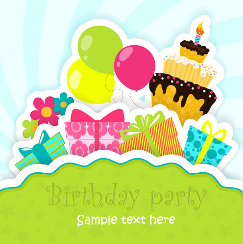 Funny cartoon Happy Birthday cards vector 05 WeLoveSoLo – Vector Birthday Cards