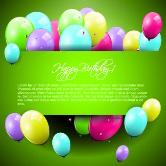 Colorful balloons happy birthday greeting cards background 01 happy birthday happy greeting birthday balloons balloon m4hsunfo
